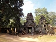 Asisbiz Preah Khan Temple west Gopuram entry tower naga bridge Angkor Thom 09