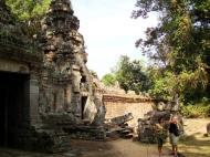 Asisbiz Preah Khan Temple west Gopuram entry tower naga bridge Angkor Thom 11