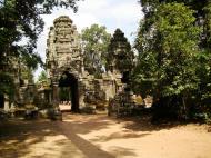 Asisbiz Preah Khan Temple west Gopuram entry tower naga bridge Angkor Thom 12