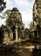 Asisbiz Preah Khan Temple west Gopuram entry tower naga bridge Angkor Thom 13
