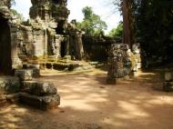 Asisbiz Preah Khan Temple west Gopuram entry tower naga bridge Angkor Thom 15