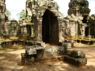 Asisbiz Preah Khan Temple west Gopuram entry tower naga bridge Angkor Thom 16