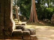 Asisbiz Preah Khan Temple west Gopuram entry tower naga bridge Angkor Thom 18