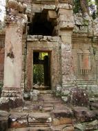 Asisbiz Preah Khan Temple west Gopuram entry tower naga bridge Angkor Thom 20