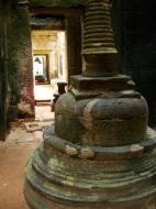 Asisbiz Preah Khan sanctuary headless Buddha and stupa Preah Vihear province 02