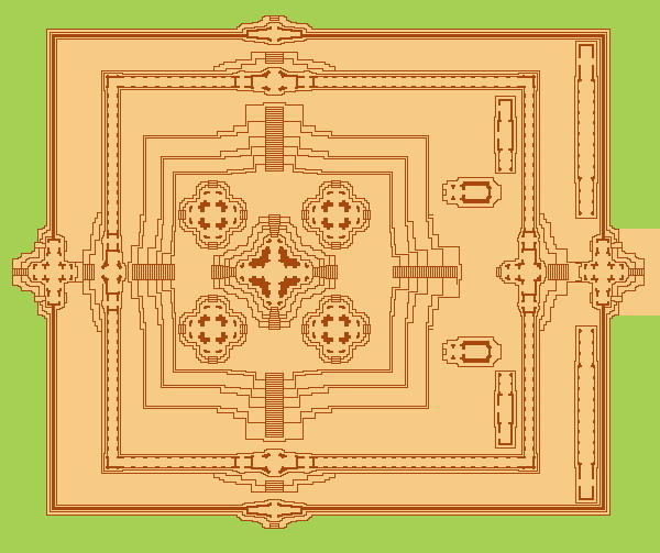 1 Map Plan Ta Keo Temple mountain Angkor Siem Reap Cambodia 0A