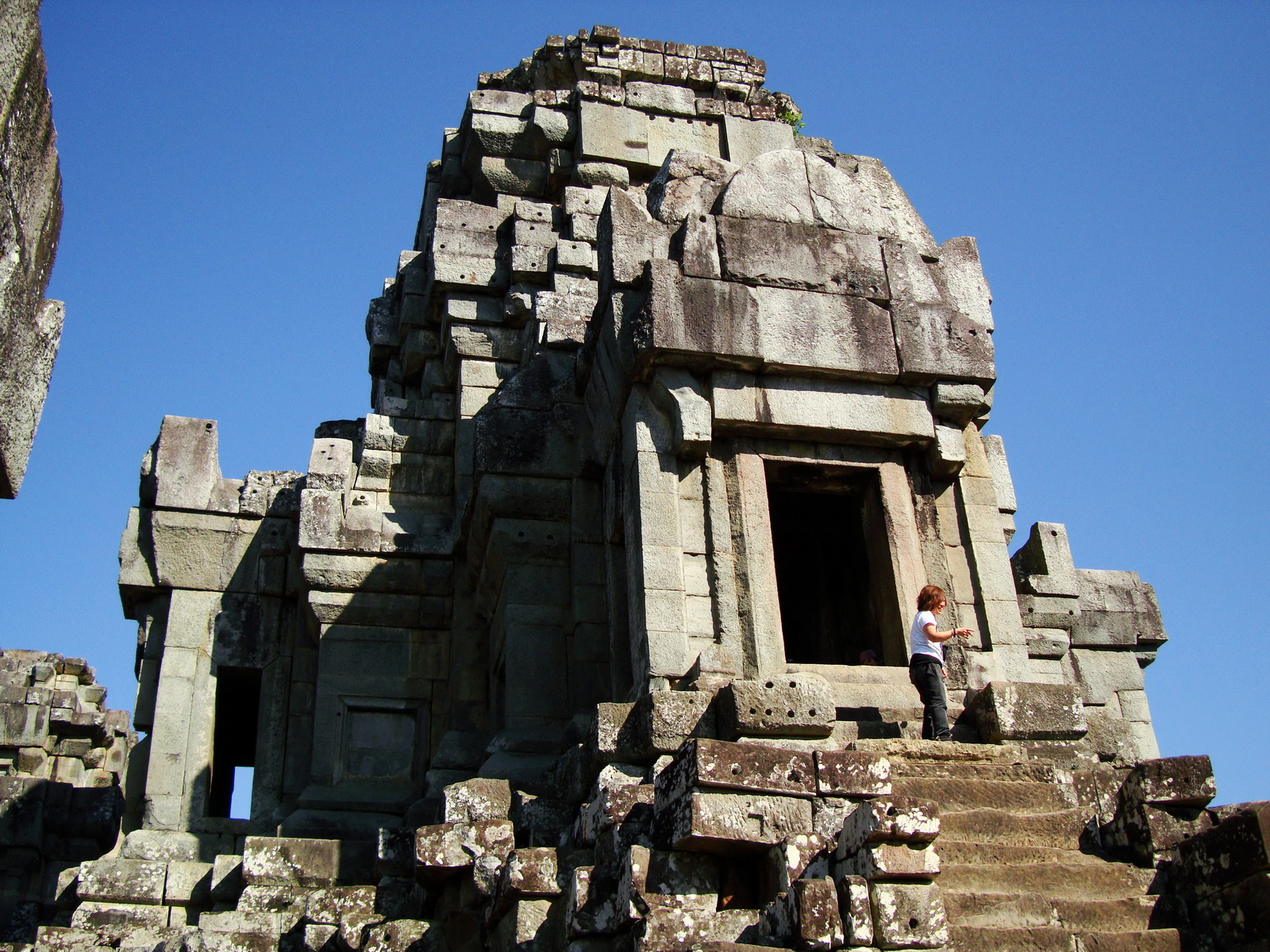 Facing East Ta Keo Temple mountain main tower stairs Angkor 02