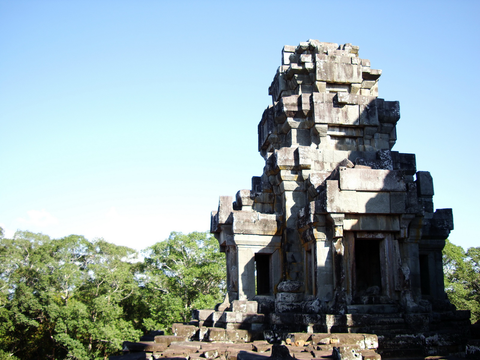 Ta Keo Temple mountain upper terrace facing NW tower Angkor 01