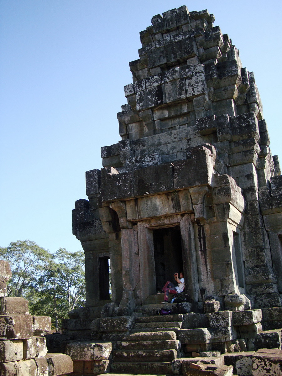 Ta Keo Temple mountain upper terrace facing SW tower Angkor 03