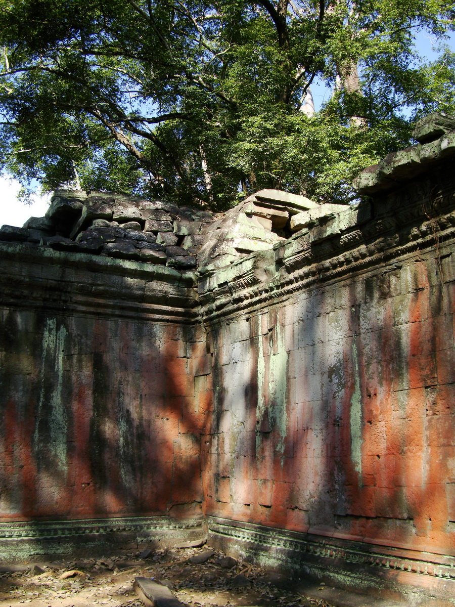 Ta Prohm Temple Rajavihara Tomb Raider inner laterite walls 06