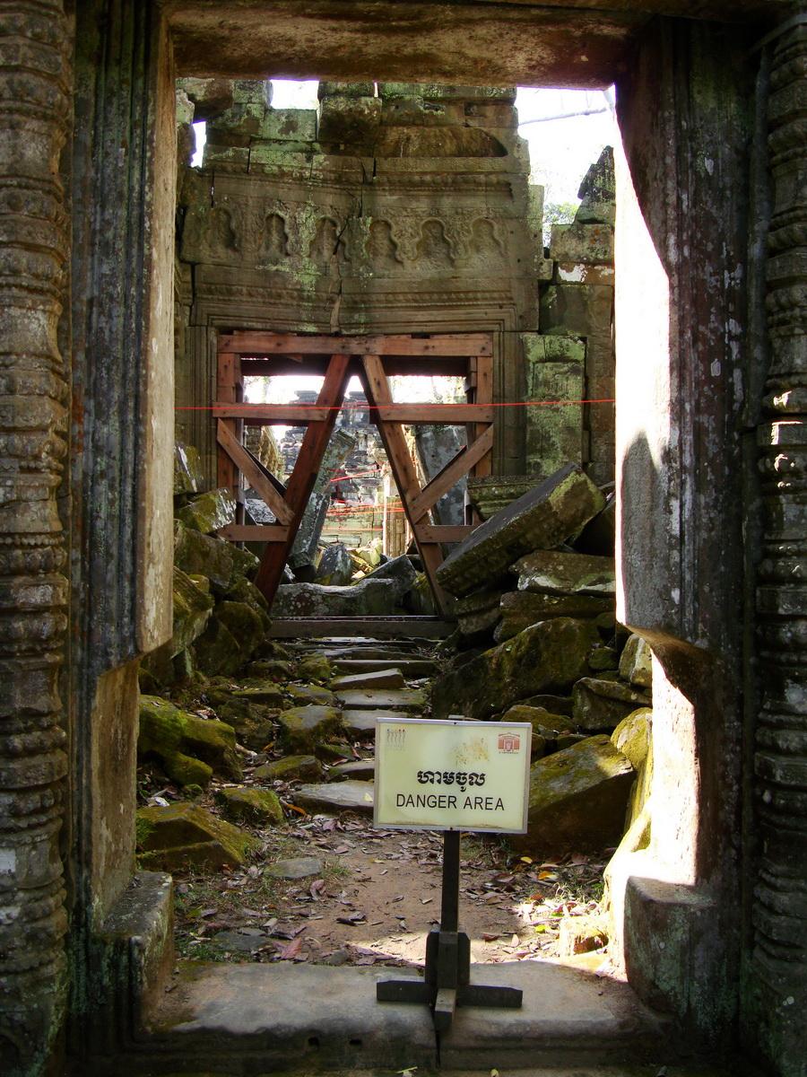 Ta Prohm Temple Rajavihara restoration work in progress 01