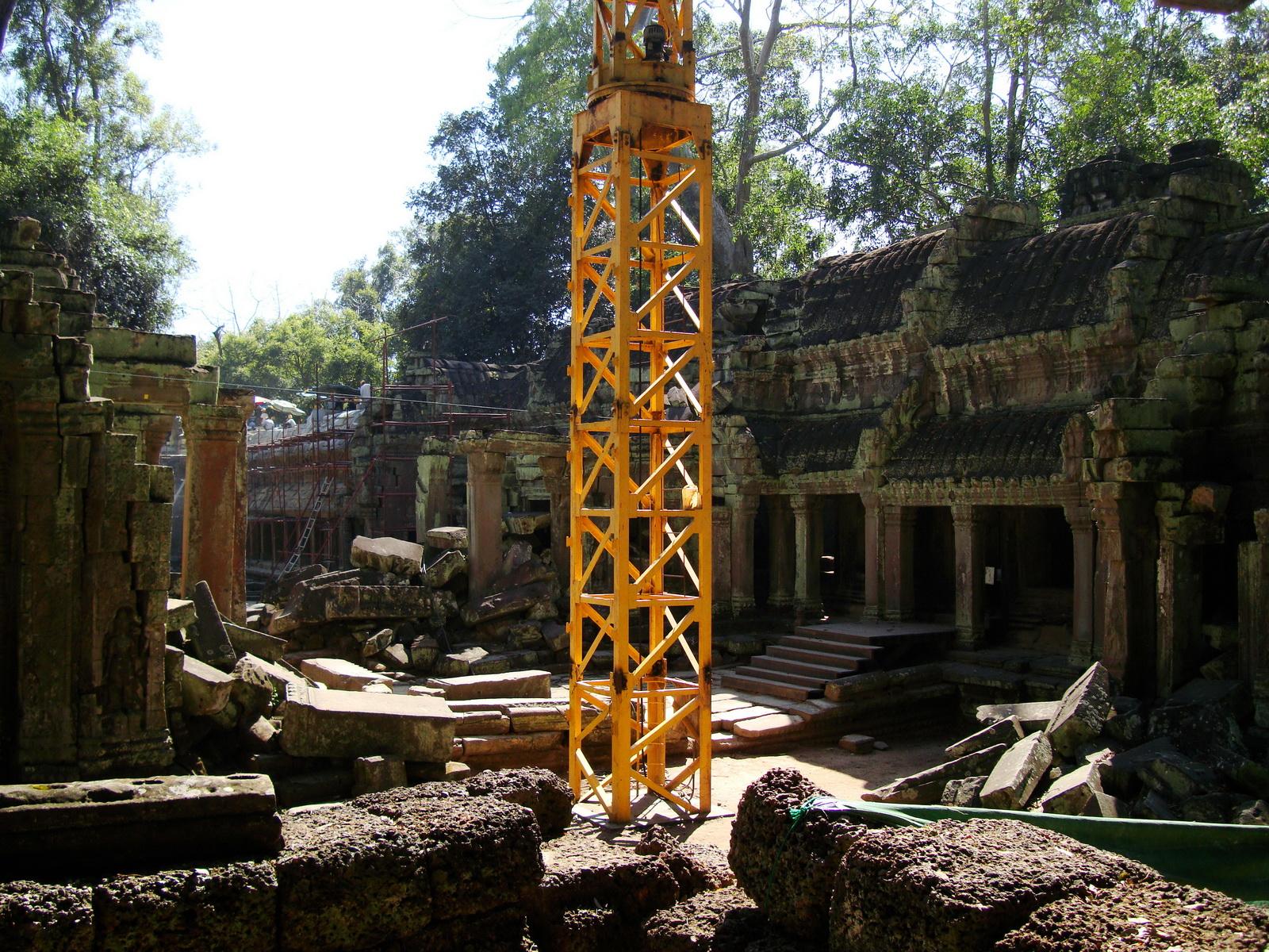 Ta Prohm Temple Rajavihara restoration work in progress 02