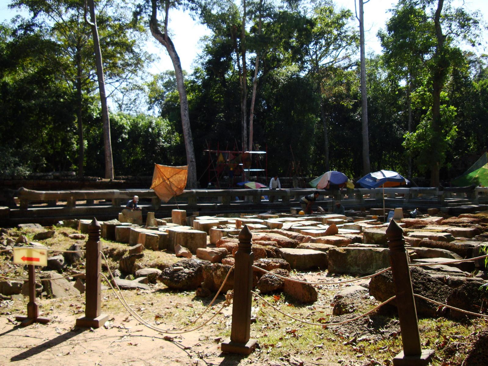 Ta Prohm Temple Rajavihara restoration work in progress 03