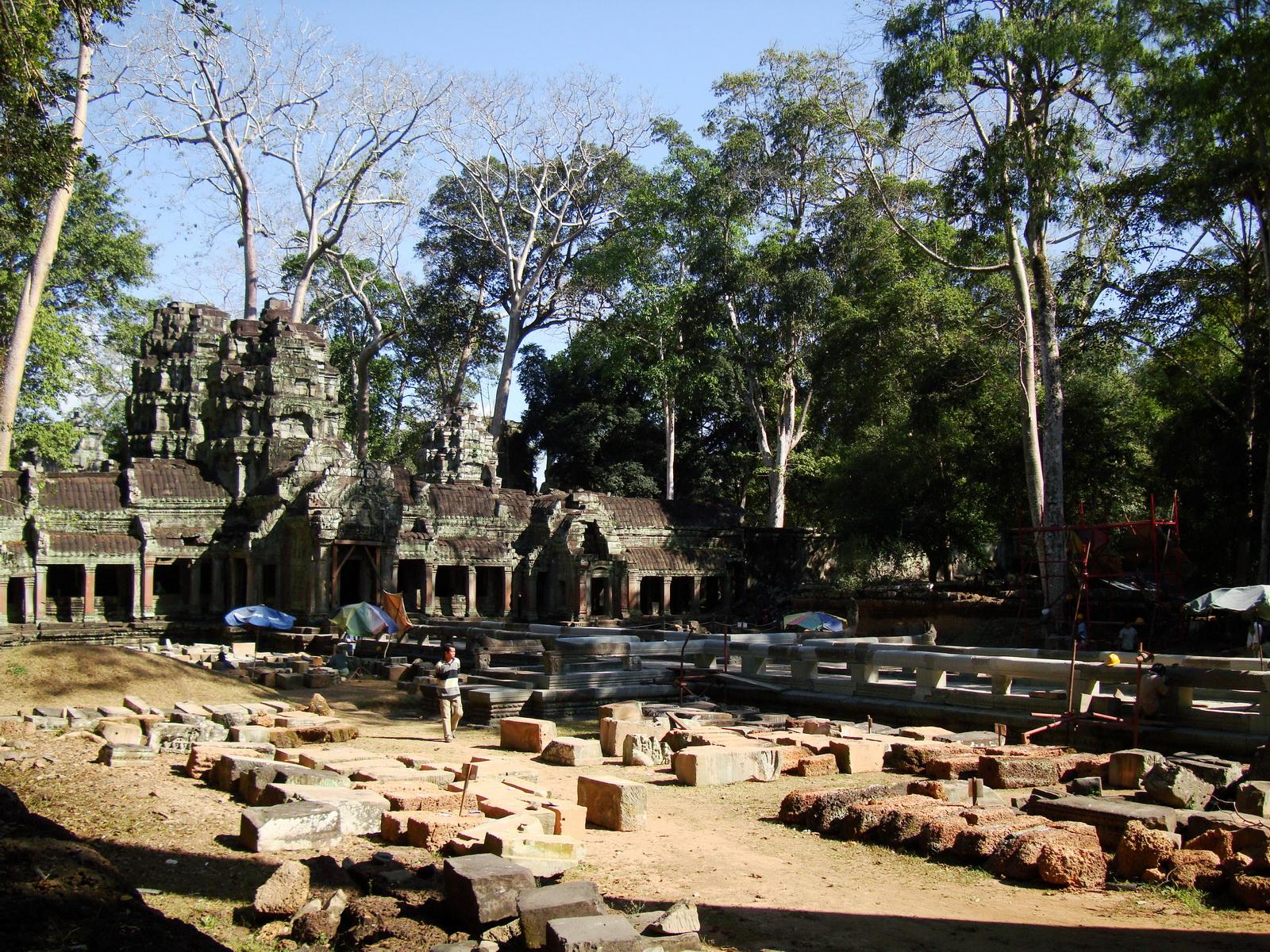 Ta Prohm Temple Rajavihara restoration work in progress 04