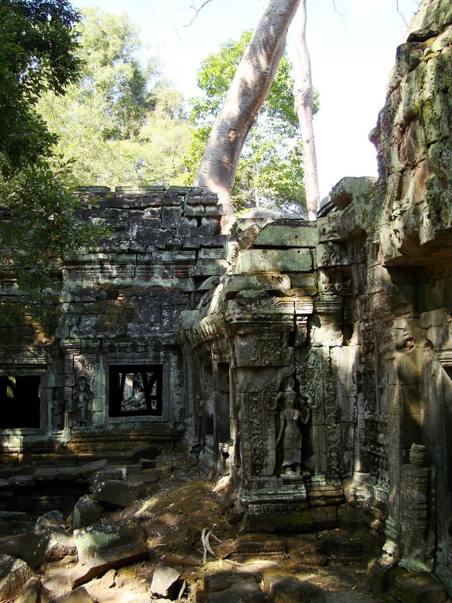 Ta Prohm Tomb Raider Bayon architecture Gopura 4 East entrance 13