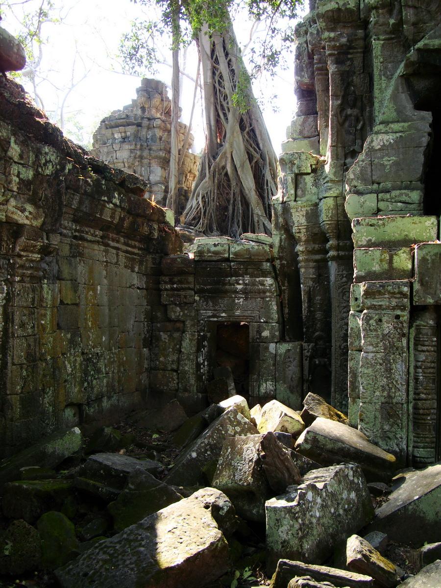 Ta Prohm Tomb Raider Bayon architecture central sanctuary area 22