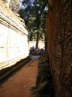 Asisbiz Ta Prohm Temple Rajavihara Tomb Raider inner laterite walls 01