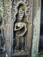 Asisbiz Ta Prohm Tomb Raider Bayon architecture Bas relief devatas 06