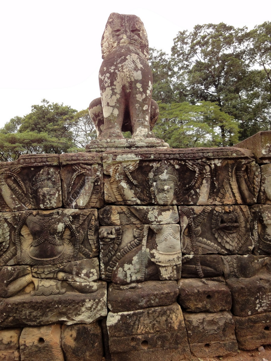 Lion Terrace of the Elephants walled city Angkor Thom 01