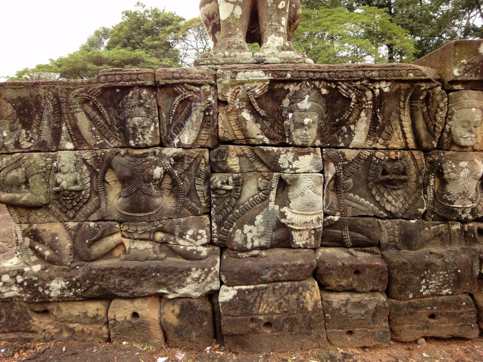 Lion Terrace of the Elephants walled city Angkor Thom 02