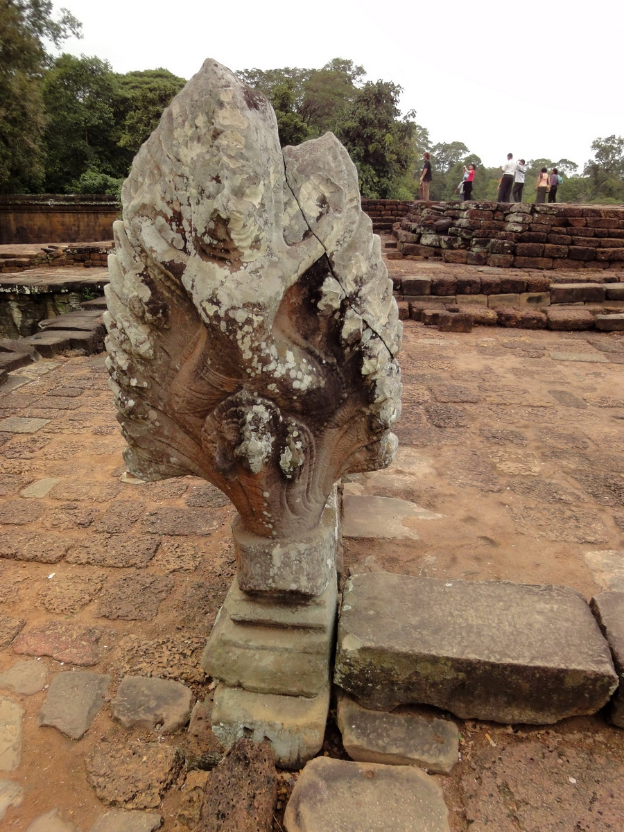 Naga Terrace of the Elephants walled city Angkor Thom 01