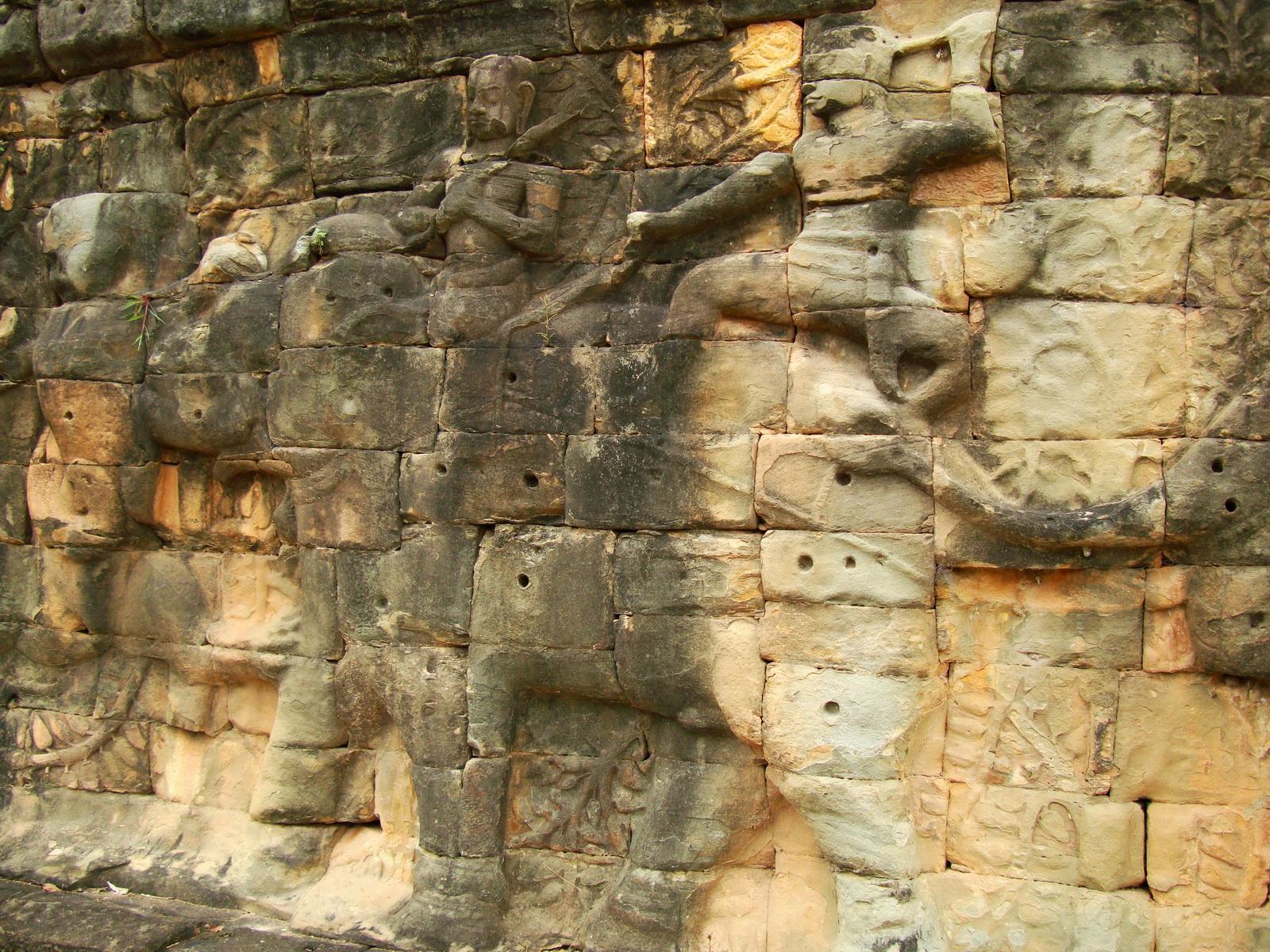 Terrace of the Elephants Bas reliefs hunting scenes 11