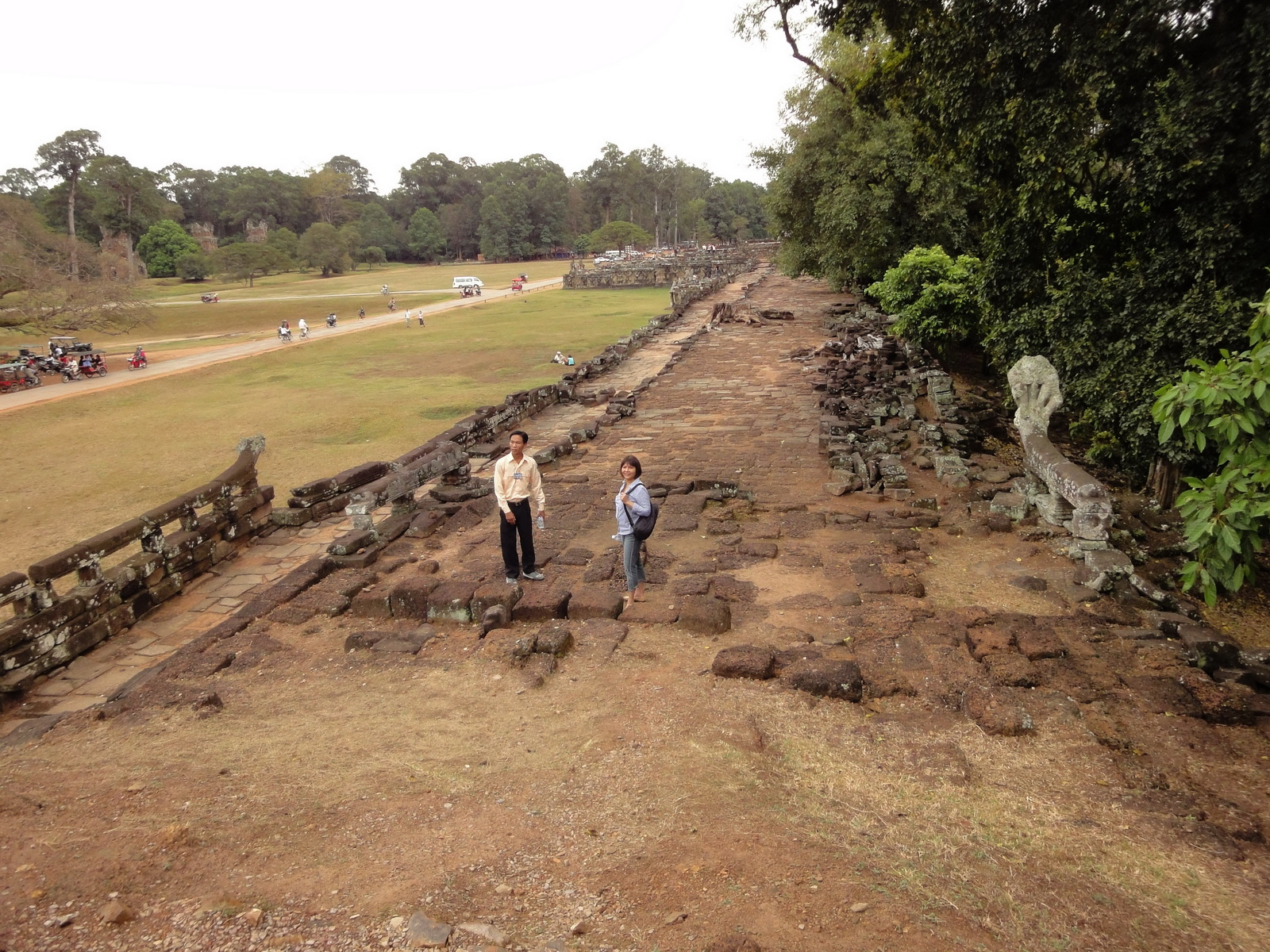 Terrace of the Elephants terrace views Angkor Thom 06