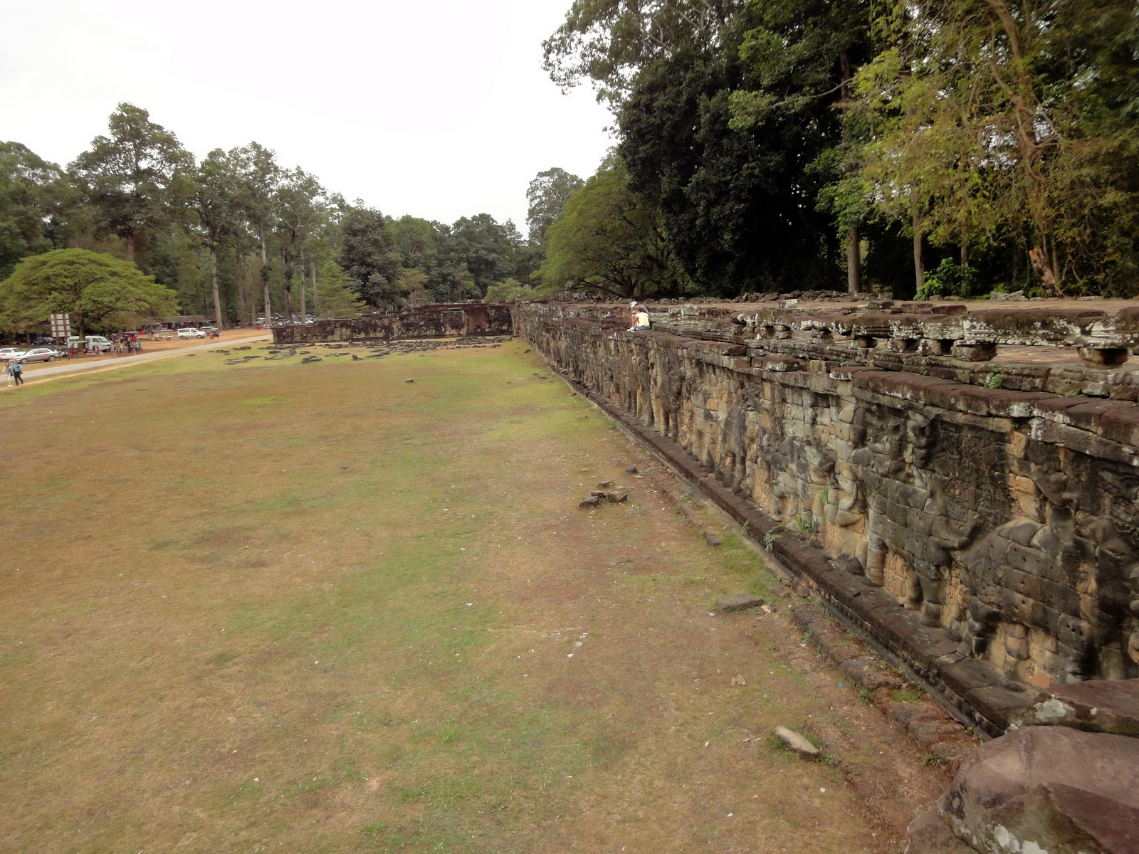 Terrace of the Elephants walled city Angkor Thom 03