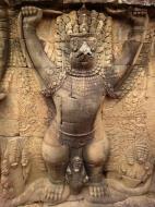 Asisbiz Garuda and Lion Bas reliefs Terrace of the Elephants 02