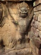 Asisbiz Garuda and Lion Bas reliefs Terrace of the Elephants 03