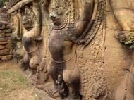 Asisbiz Garuda and Lion Bas reliefs Terrace of the Elephants 06