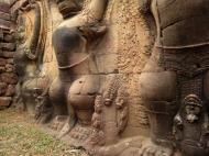 Asisbiz Garuda and Lion Bas reliefs Terrace of the Elephants 08