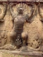 Asisbiz Garuda and Lion Bas reliefs Terrace of the Elephants 09