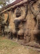 Asisbiz Garuda and Lion Bas reliefs Terrace of the Elephants 10