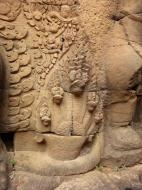 Asisbiz Garuda and Lion Bas reliefs Terrace of the Elephants 12