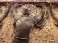 Asisbiz Garuda and Lion Bas reliefs Terrace of the Elephants 13