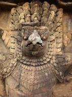 Asisbiz Garuda and Lion Bas reliefs Terrace of the Elephants 14