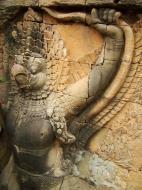 Asisbiz Garuda and Lion Bas reliefs Terrace of the Elephants 17