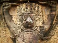 Asisbiz Garuda and Lion Bas reliefs Terrace of the Elephants 21
