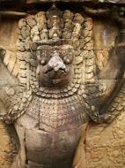 Asisbiz Garuda and Lion Bas reliefs Terrace of the Elephants 22