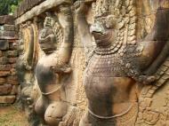 Asisbiz Garuda and Lion Bas reliefs Terrace of the Elephants 23