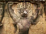 Asisbiz Garuda and Lion Bas reliefs Terrace of the Elephants 26