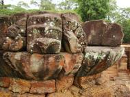 Asisbiz Lion Terrace of the Elephants walled city Angkor Thom 07