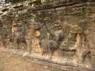 Asisbiz Terrace of the Elephants Bas reliefs hunting scenes 03