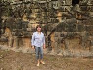 Asisbiz Terrace of the Elephants Bas reliefs hunting scenes 06