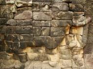 Asisbiz Terrace of the Elephants Bas reliefs hunting scenes 08