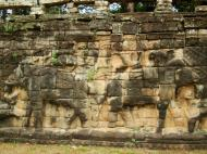 Asisbiz Terrace of the Elephants Bas reliefs hunting scenes 10