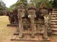 Asisbiz Terrace of the Elephants three elephants 01