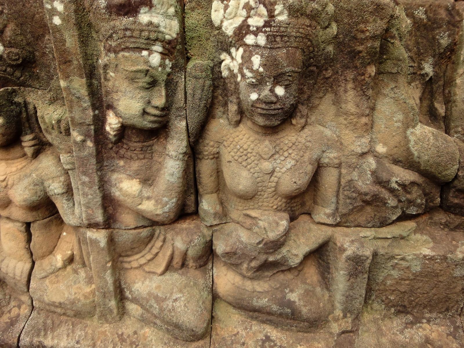 Leper King Terrace hidden wall underworld Nagas and deities 002