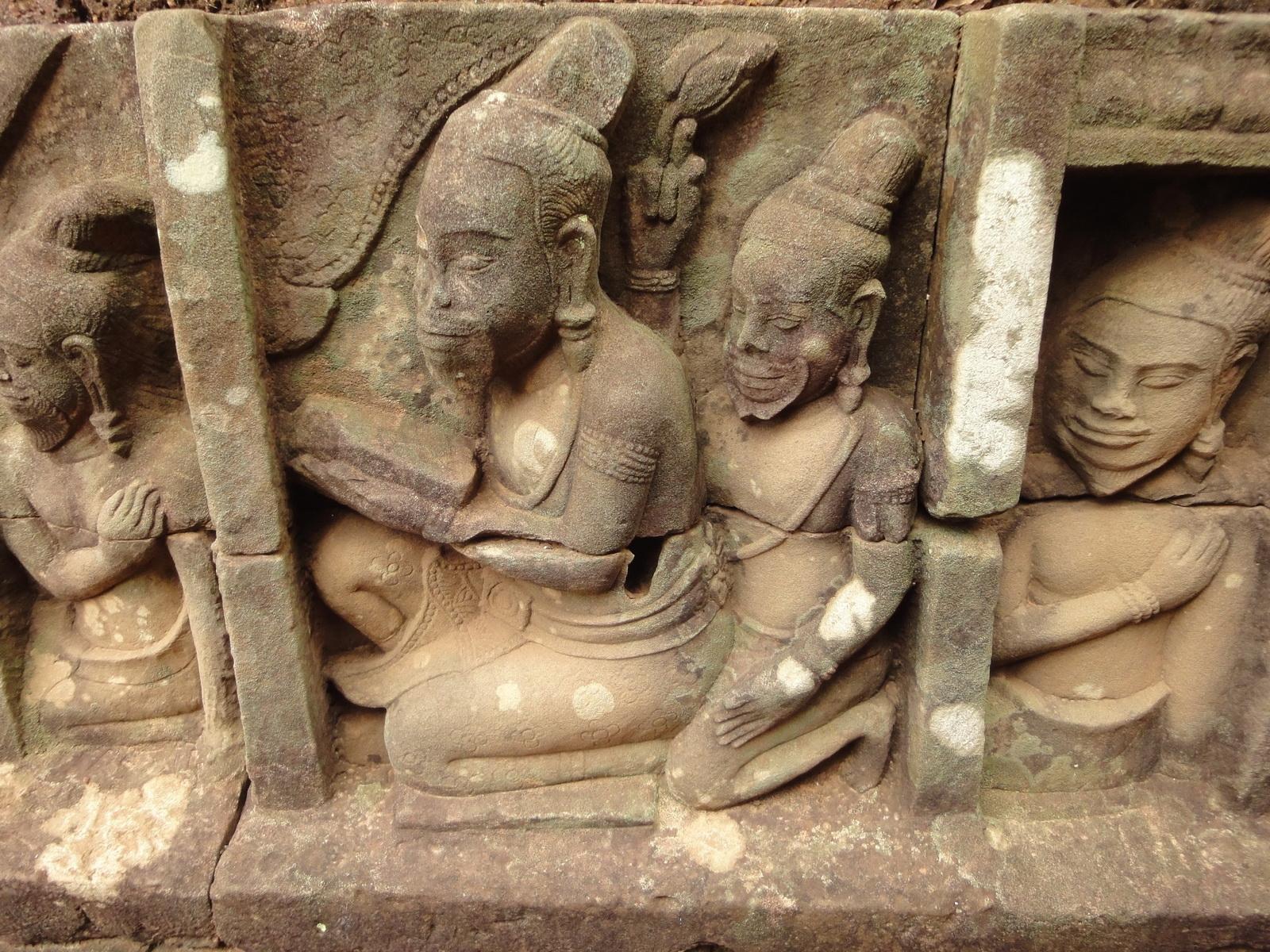 Leper King Terrace hidden wall underworld Nagas and deities 004